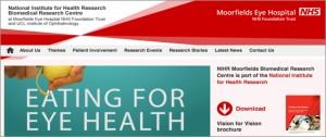 Moorfields homepage